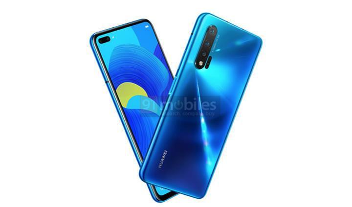 Huawei Nova 6 5G'nin tasarımını açığa çıkaran basın görseli yayınlandı