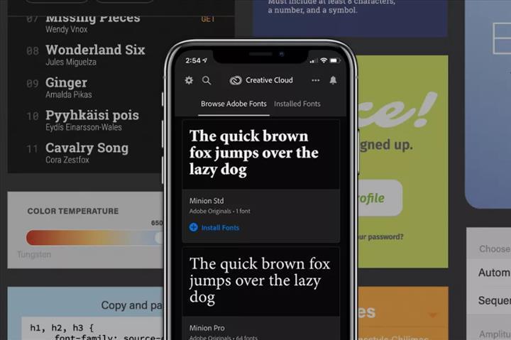 Adobe, iOS cihazlara 17 bin yazı tipi getiriyor