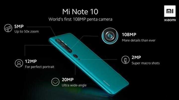 Xiaomi Mi Note 10, 6 Kasım'da İspanya'da lanse edilecek