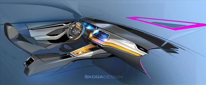 2020 Skoda Octavia'nın kokpitinden ilk resmi görüntü geldi