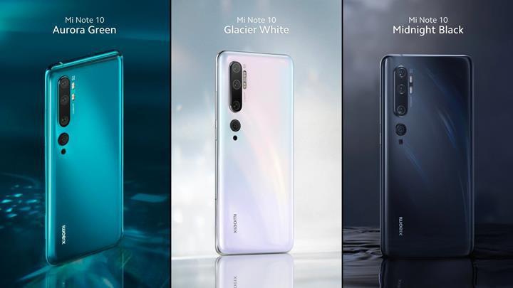 Xiaomi Mi Note 10 ve Mi Note 10 Pro resmen tanıtıldı