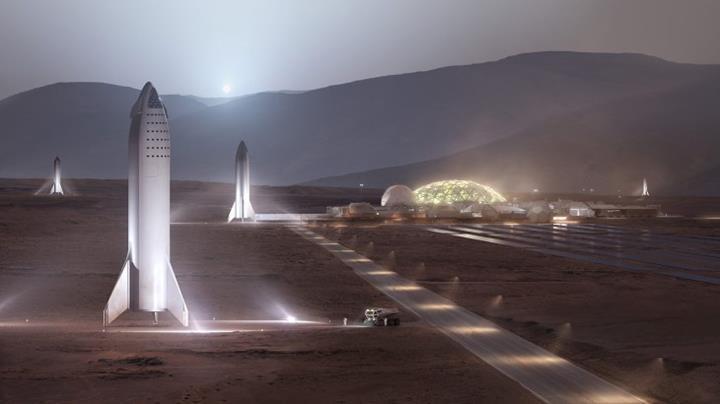 Elon Musk'a göre Mars'ta kurulacak bir şehir için 20 yıla ve 1.000 adet Starship'e ihtiyaç var
