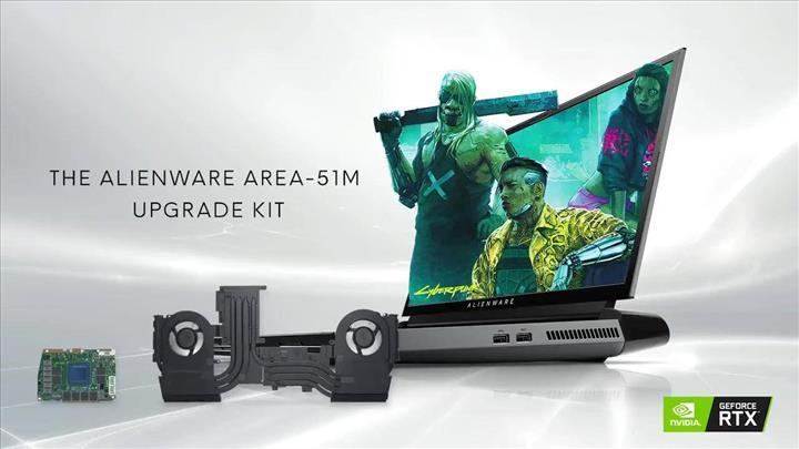 Alienware Area-51m grafik yükseltme seti satışta
