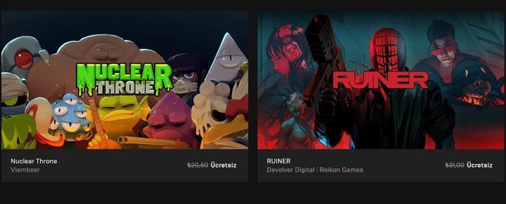 Epic Games mağazası iki oyunu daha ücretsiz yaptı