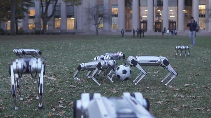 Mini Cheetah robotlarının eğlenirken görüntülendiği yeni bir video yayınladı