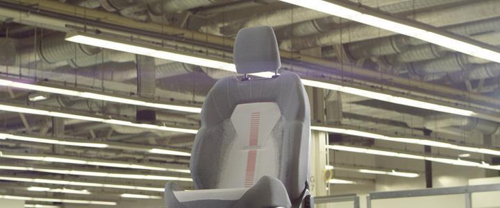 Ford'un 3 boyutlu örgü tekniğiyle üreteceği koltuk kılıfları akıllı telefonları şarj edebilecek