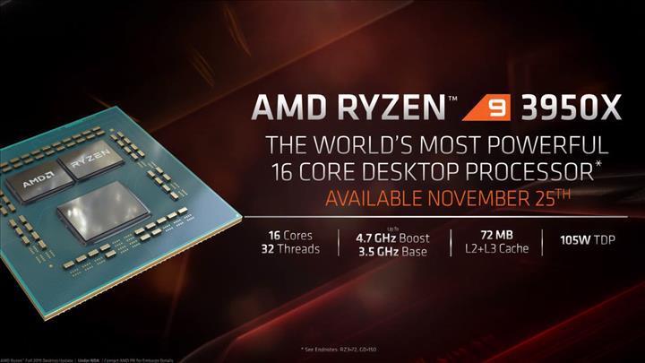 Ryzen 9 3950X Intel'in 28 çekirdekli tepe model Xeon işlemcisinin önünde