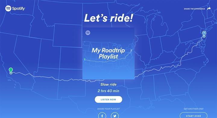 Spotify, yolculuklarınız için çalma listesi oluşturmanıza yardım ediyor