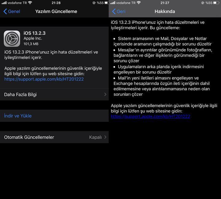 iOS 13.2.3 güncellemesi yayınlandı! İşte çözülen sorunlar