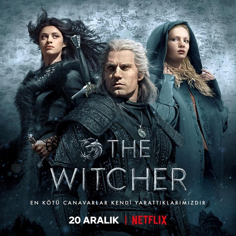 Netflix, The Witcher dizisinin yeni afişini paylaştı