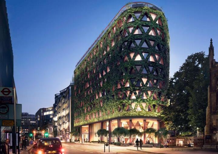 Londra'da inşa edilecek Citicape House binası, yılda sekiz ton karbon yakalayacak
