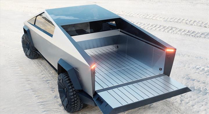 Tesla Cybertruck elektrikli pickup, ilginç tasarımı ve 800 km menziliyle geldi