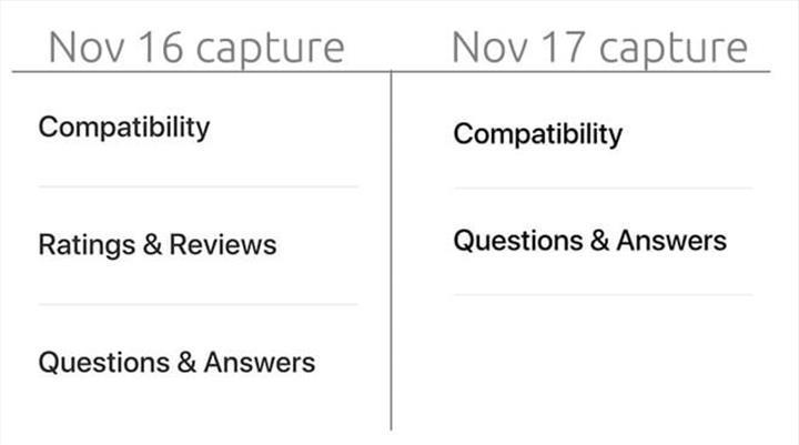 Apple çevrimiçi mağazasından müşteri yorumlarını kaldırdı