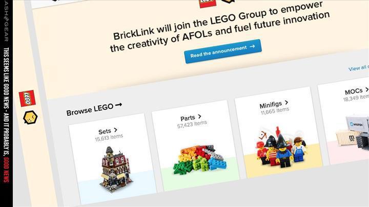 LEGO popüler topluluk platformu BrickLink'i satın aldı