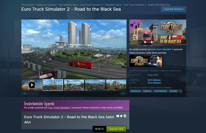 ETS 2'nin Türkiye haritası Steam'de yerini aldı!