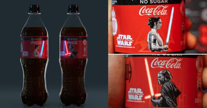Coca-Cola'dan Star Wars'a özel OLED ışıklı şişe tasarımı!