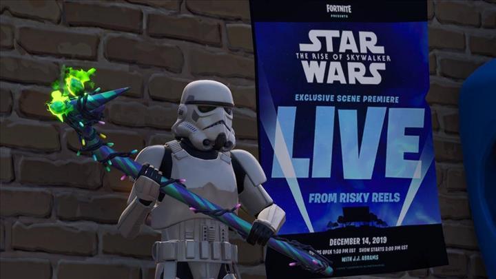 Fortnite oyununda Rise of Skywalker heyecanı