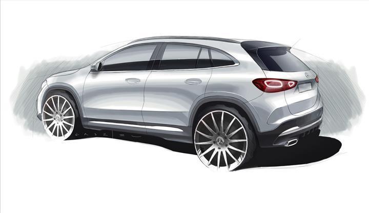 2020 Mercedes-Benz GLA'nın çizim görseli paylaşıldı
