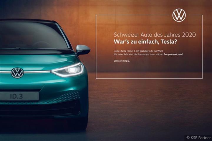 Volkswagen'den Tesla'ya mesaj: