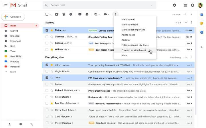 Gmail'de e-postalar artık ek olarak gönderilebilecek