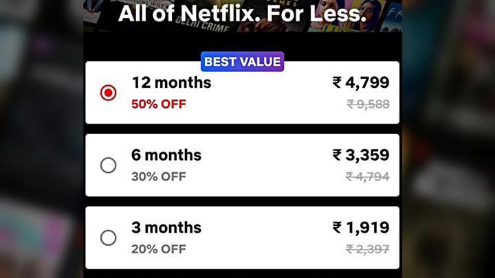 Netflix yüzde 50 indirimli yıllık paketi test ediyor