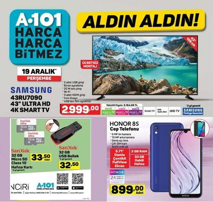 Haftaya A101 marketlerde Honor 8S var