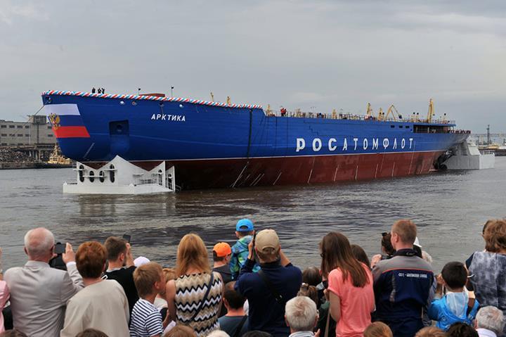 Dünyanın en güçlü nükleer buzkıran gemisi Arktika, zorlu bir testi daha geride bıraktı