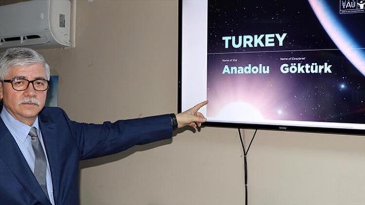 Türkiye'nin yıldızı ve gezegeninin isimleri belli oldu