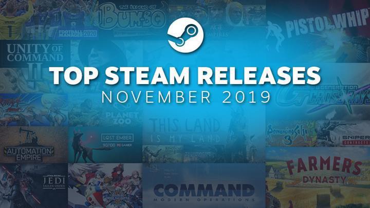 Steam, Kasım ayının en iyi 20 oyununu açıkladı