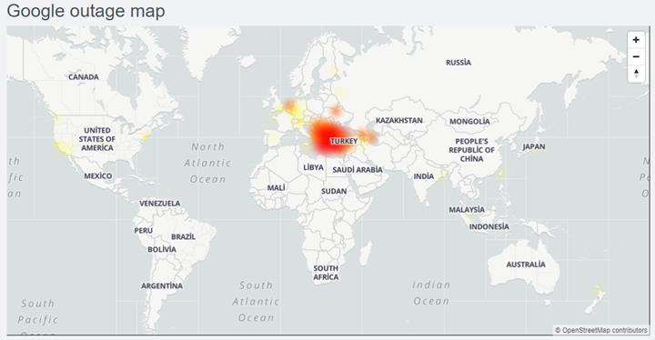 Google servisleri çöktü! Bakan Yardımcısından açıklama geldi