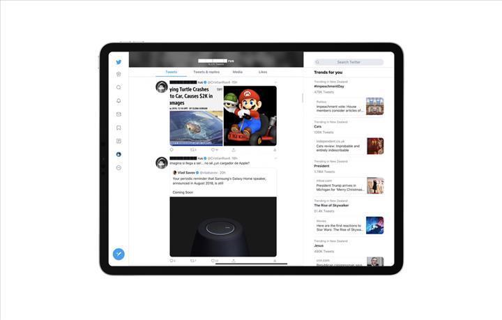 Twitter'ın iPad uygulaması sonunda yeni arayüzüne kavuşuyor