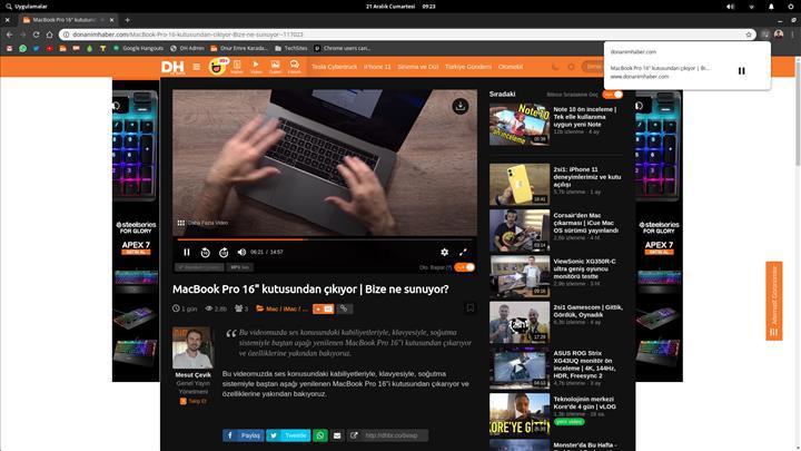 Google Chrome'a medya kontrol tuşu eklendi