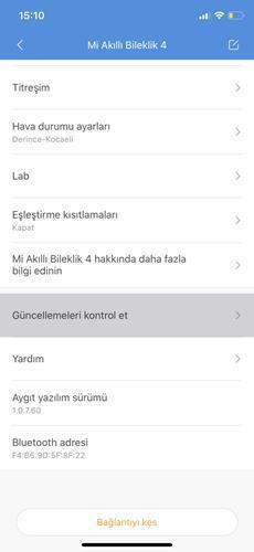 Mi Band 4'e Türkçe dil desteği geldi