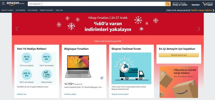 Amazon.com.tr'de Yılbaşı Fırsatları başladı