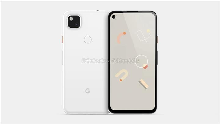 Google Pixel 4a kamera delikli ekranla gelecek