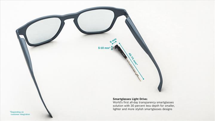 Bosch dünyanın ilk tüm gün giden akıllı gözlüğünü duyurdu