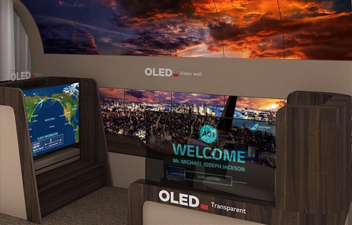 LG'nin rulo OLED ekranı artık tavana asılıyor