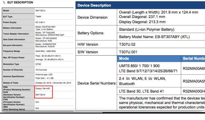 Galaxy Tab A4s detaylanıyor