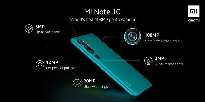 Xiaomi Mi Note 10, 108 MP'lik beşli kamerasıyla kullanıcılara neler vaat ediyor?