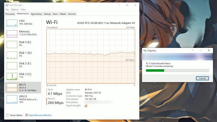 5GHz'de neredeyse 1Gbit!