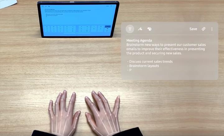 Samsung, yapay zeka destekli görünmez klavye SelfieType'ı tanıtıyor