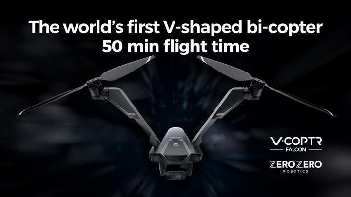 V-Coptr Falcon iki pervane ile 50 dakika havada kalabiliyor