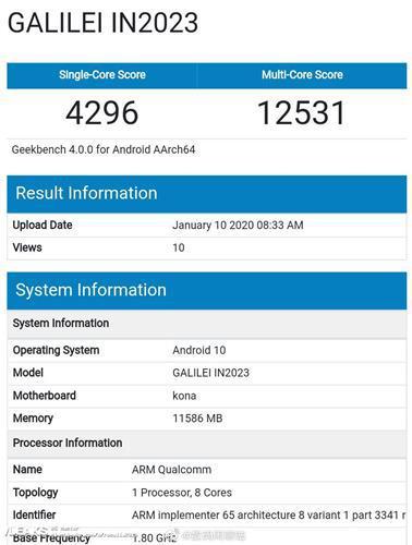 12 GB RAM'li OnePlus 8 Pro Geekbench'te görüntülendi
