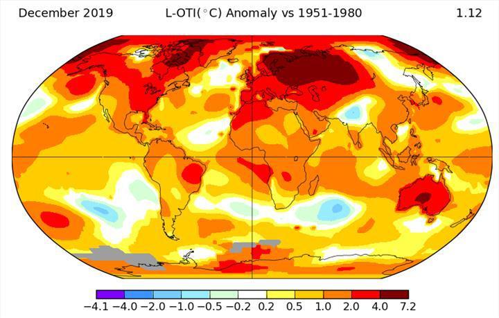 2019, kayıtlara göre gezegenimizin yaşadığı en sıcak ikinci yıl oldu
