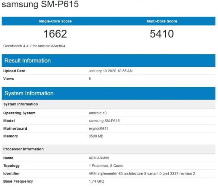 Samsung'un S Pen'li ucuz tabletinin teknik özellikleri belli oldu