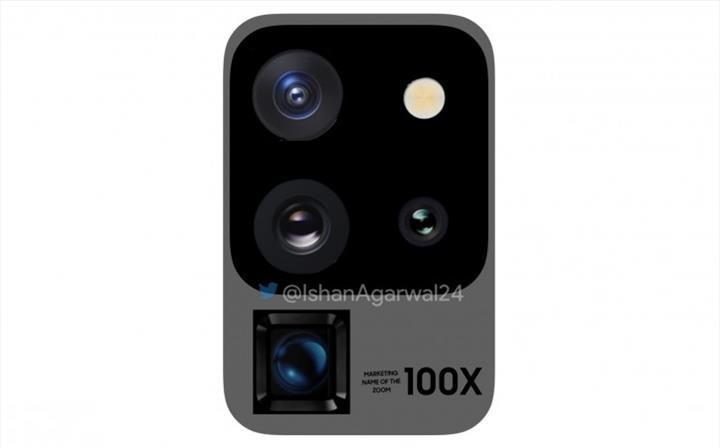 Samsung Galaxy S20 Ultra, farklı bir kamera yerleşimi ile gelebilir