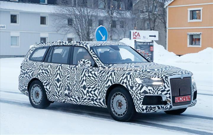Rusya'nın lüks SUV modeli Aurus Komendant kış testlerine başladı