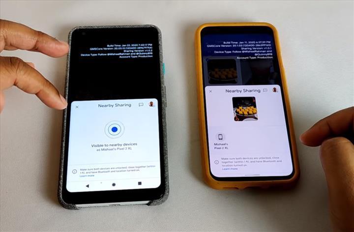 Android'in AirDrop alternatifi çalışır halde görüntülendi