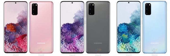 Samsung Galaxy S20'nin iki yeni renk seçeneği ortaya çıktı