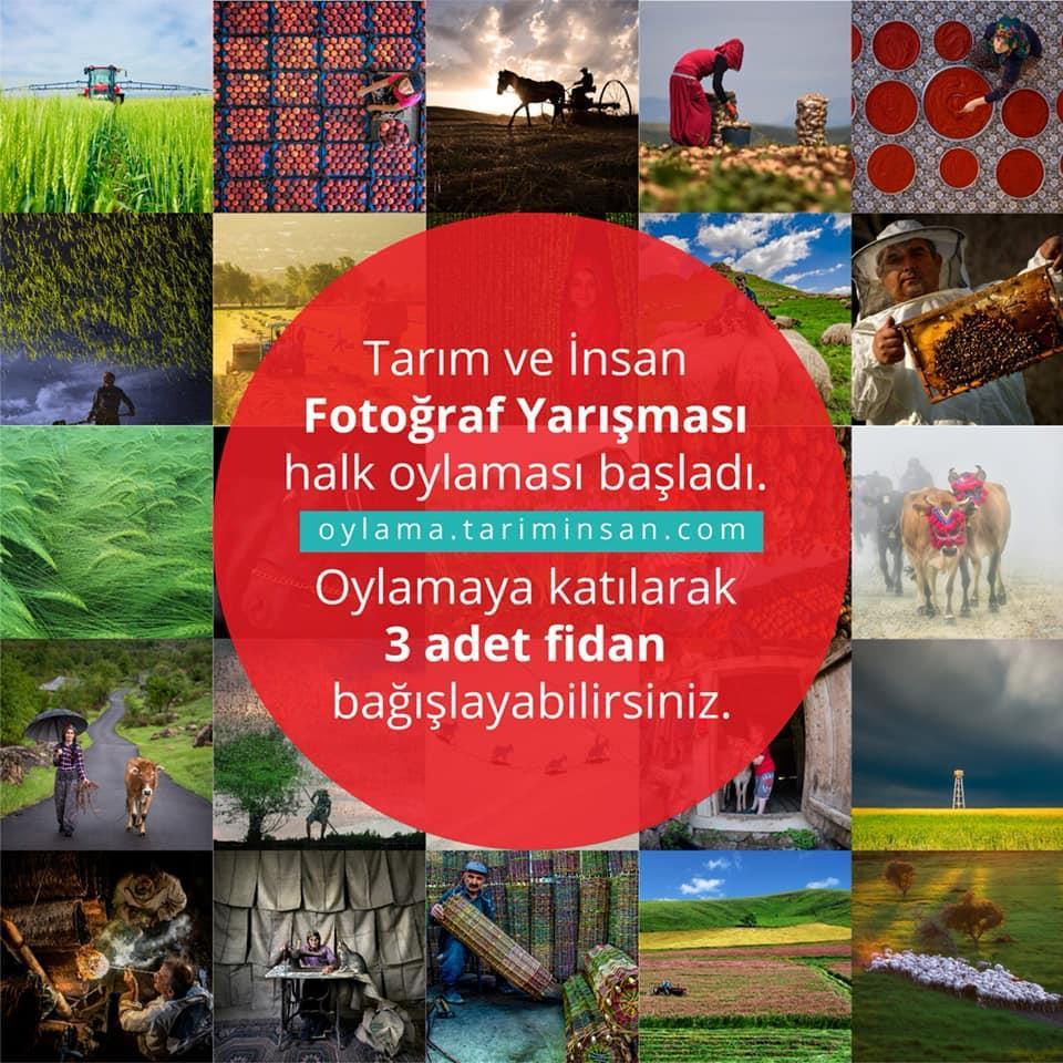 Tarım Bakanlığı'nın fotoğraf yarışmasında oy verene fidan hediye